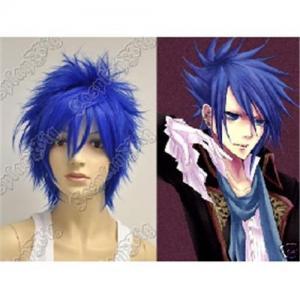China Vocaloid kaito Punk layered dark blue short cosplay wig 0058 on sale