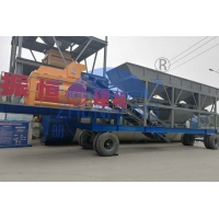 Buy cheap High Stability YHZS100 Mobile Concrete Batching Plant 100m3 / H Capacity 74kw Motor Power product