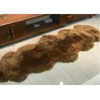 Buy cheap Real Sheepskin Rug Home Design Real Animal Fur Factory Direct Sale Dyed Brown product