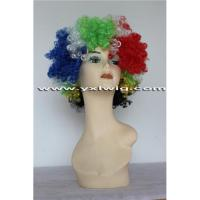 Buy cheap Synthetic African National Flag Wig product