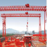 Buy cheap 40t Fast lifting Truss Double Girder Gantry Crane for Precast yard product