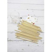 Buy cheap Metal Gold Disposable Drinking Paper Straws For Smoothies Customized Length product