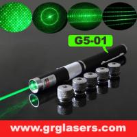 Buy cheap 5 in 1 Green Laser Pointer Pen 1mW Star Effect Caps 5 Laserheads Lazer Light Made In China product