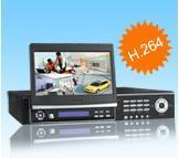 Buy cheap StandaloneDVR… H.264 4ch 100fps/120fps Standalone DVR with 7 inch LED screen product