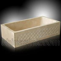 Buy cheap galala marble carving farm sink 24 product