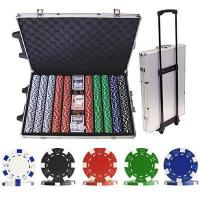 Buy cheap 1000 Striped Dice Poker Chip Set with Trolley Case product