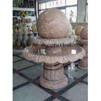 China Lantern Product Namered line marble two-layer fortune ball sculpture for sale