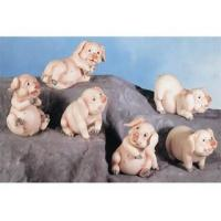 Buy cheap Polyresin Animal Figurines Polyresin Pig Figurines Set product