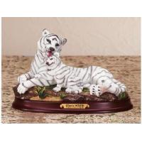 Buy cheap Polyresin Animal Figurines Polyresin White Tiger Figurine product