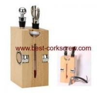 China Wooden Stand Wine Accessories Sets on sale