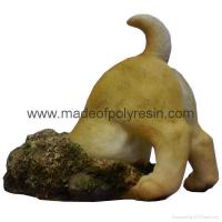 China Polyresin Dog Down A Hole Ornament on sale