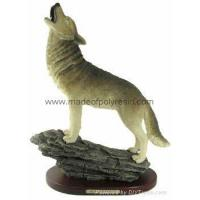 Buy cheap polyresin gray wolf resin wolf statue wolf crafts wolf sculpture product