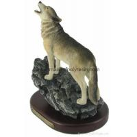 Buy cheap polyresin howling wolf resin wolf statue wolf crafts wolf sculpture product