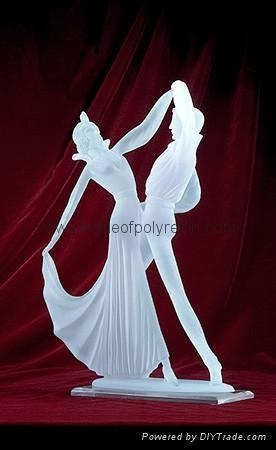 Quality Frosted Dancer Crafts clear polyresin dancer for sale