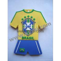 Buy cheap PVC Rubber World Cup Soccer Jersey Keychain Keyring from wholesalers