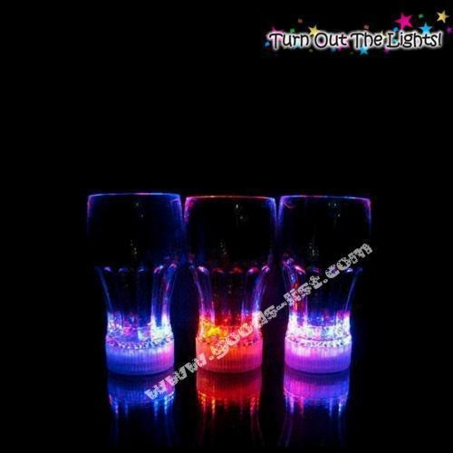 Quality Light Up Barware Flashing Cola Glass for sale