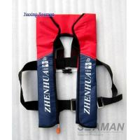 Buy cheap Marine Lifesaving ZHAQYT Single Air Chamber CO2 Inflatable Life jacket ISO12402 from wholesalers