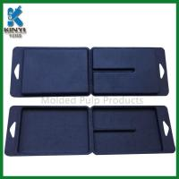 Buy cheap Customized Black Color Biodegradable Fiber Pulp Molded Packaging Boxes product