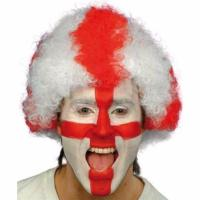 Buy cheap England Afro Cheer Wig product