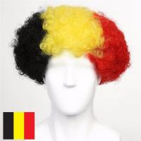 Buy cheap Belgium Flag Afro Fan Cheer Wig product