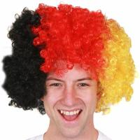 Buy cheap Black Red Yellow Germany Afro Wig product