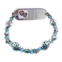 China Item# KC07 Petite Cute as a Bug Medical ID Bracelet on sale