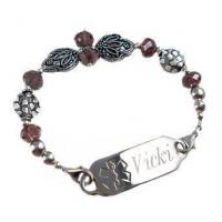 Buy cheap Item# DCR41- Deluxe Mirror Image Medical ID Bracelet product