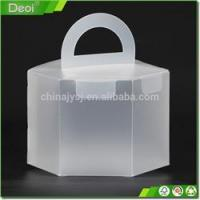Buy cheap Clear plastic food packing box for cake small clear folding Customized product