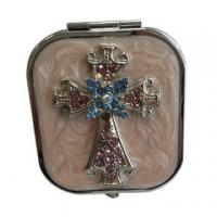 Buy cheap Jeweled Cross Makeup Mirrors product