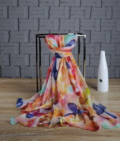 Quality chiffon shawls and wraps Custom Chiffon Shawl China Supplier for sale