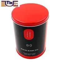 Buy cheap PMS Large and PMS Red Middle Round Tea Storage Arch Lid Tin Canister product