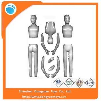 China Body Parts Hot Toys Plastic Figure Mold