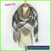 Buy cheap Factory provide high quality check shawl 2016 product