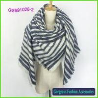 Buy cheap New style high quality stripe printed acrylic big kerchief product