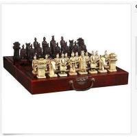China Chinese 32 pieces chess set/box/Xian Terracota Warrior on sale