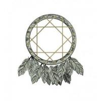 Native American Indian DreamCatcher Embroidery Design