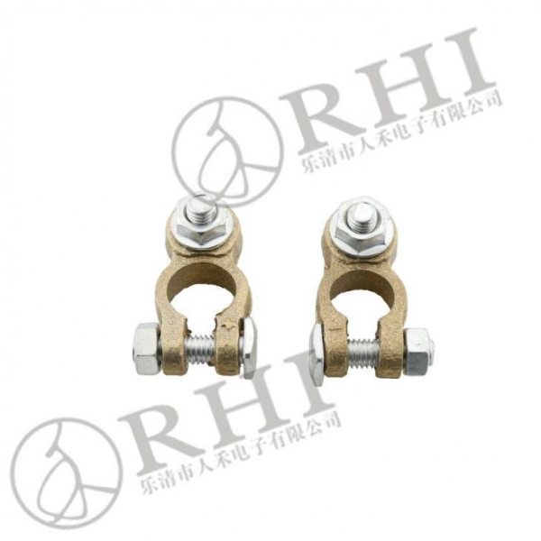 Sand Blasting Copper Auto Battery Terminal Clamp Of Rhi Global