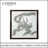 Buy cheap CANOSA Shell hand engarving phoenix Wall Picture with wood frame product
