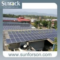 China Cheap Solution Corrugated Tin Roof Solar Racking System on sale
