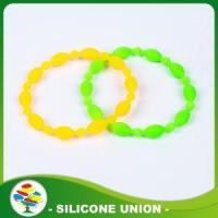 Cheapest Simple Design Silicone Beaded Bracelet