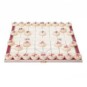 Quality Portable Traditional Xiang Qi Wooden Folding Chinese Chess Checker Game for sale
