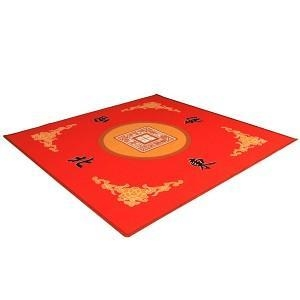 """Quality Universal Mahjong / Paigow / Card / Game Table Cover - Red Mat 31.5"""" x 31.5"""" for sale"""