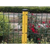 Peach Post Curved Fence