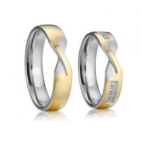 China Gold Plated Unique Wedding Rings Pure Titanium Men Women Jewelry Wedding Engagement Rings on sale