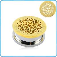 Buy cheap TP011878 Wire cut stainless steel plating gold ear plug from wholesalers