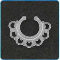 Buy cheap SR01077 Transparent White Body Jewelry Fake Septum Ring from wholesalers