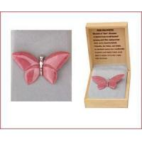 Buy cheap Carved Rhodonite Butterfly Pin product