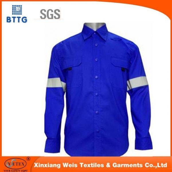 Quality EN11612 Flame Retardant Jacket with Reflective Tapes for sale
