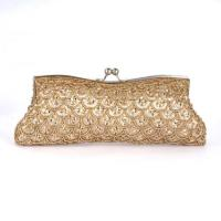 Buy cheap Clutch Bags gold handmade sequin Evening Bags for girls product