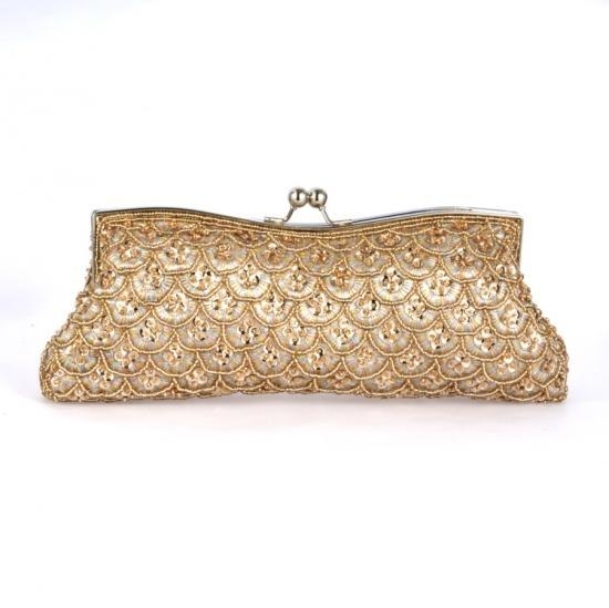 Quality Clutch Bags gold handmade sequin Evening Bags for girls for sale